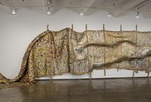 Art by El Anatsui from Ghana