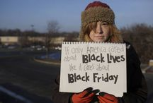 Protest Photos From Black Friday / BlackFriday protesters got off to an early start this year. The picketing and sit-ins at big-box stores began late Thanksgiving night and have continued into this afternoon as labor rights activists and workers march alongside thousands protesting a Missouri grand jury's decision not to indict the police officer who killed black teen Michael Brown. ON WEB: http://mic.com/articles/105308/20-powerful-protest-photos-from-black-friday-that-everyone-needs-to-see