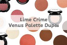 Lime Crime Venus Palette Dupes