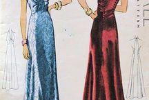 1938 - 1945 Ladies' Evening Wear