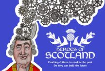 Heroes Of Scotland illustrated children's book
