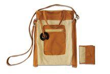 Gidran taskak / Női táska, valódi bőrből és természetes textillel, egyedi tervezéssel.