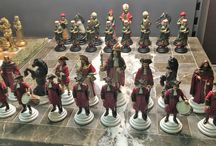 Habsburg vs Ottoman empire Handmade Chess Set - hand painted