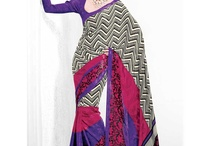 Saree / Crape and Georgette sarees available at Bagittoday.com