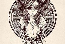 tattoo aries/driad/nymph/satyr