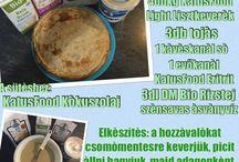 KATUSFOOD receptek / Egészséges receptek Mindenkinek KATUSFOOD hozzávalókból.