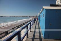Photo cabines de plage / Quelques unes des plus belles cabines de plage de Vendée, il y en a pour tous les goûts, toutes les couleurs ...