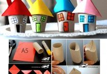 domečky / výtvarné nápady