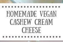 Vegan milks, cheeses, creams, butters