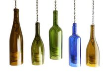 Wine botle candle holders