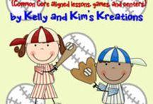 Baseball / Baseball activities for the classroom for prek, kindergarten, first grade, and second grade.