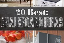 Chalkboard Inspiration / Inspiring Chalkboard decor for your home