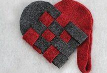 Сердца из войлока