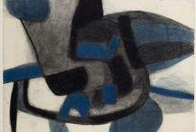 Maurice Estève - 1904 / 2001 / Peintre abstrait français du vingtième siècle.