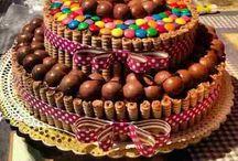 choc decorated cakes