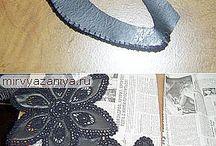 кожа +вязание