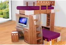 Literas Infantiles / Literas y cama individual para niños