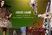 "Roberto Cavalli ""The Wild Romance of Nature"" / Back in the 70s, Roberto Cavalli's passion for travel led him ""to discover the profound beauty of nature and the animal kingdom. At the same time in Florence, Veruschka was emerging as a new, slightly subversive, female icon"". That modern & courageous woman, is the muse of the SS15 pre-collection, full of exotic prints from the animal kingdom (besides the signature big wild cats and snakes, you'll also find tortoise, armadillo, or giraffe) and extravagant, show-stopping accessories!"