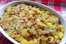 zapečené  zelí  s bramborem