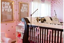 Home | Pink and Gold Nursery / All that glitters... an Ombre pink and glittery gold nursery board. Perfect for that sweet and sparkly baby girl.