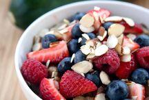 AM / Tasty and healthy breakfasts. YUM.