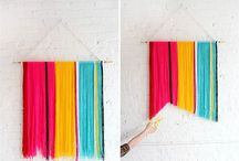 Yarn DIY decors / It's all about yarn