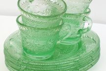 Depression Glass - I love Pink and Green