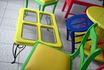 Conjunto de cadeiras e centro.