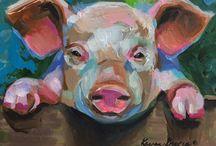 animal paintings acrylic