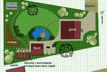 Планировки сада и двора