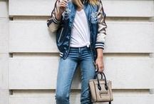 How to style Bomber jacket? / Best ideas from street style fashion, to style your bomber jacket, or to decide whether to buy one, since it's one of the biggest trends for this fall according to the biggest fashion chains such as Zara, H&M etc.