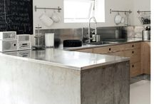 Kitchen with concret