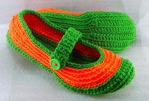 Crochet zapatos adultos