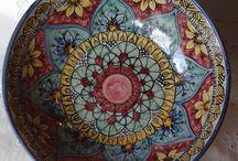 Ciotola / Spaghettiera / Insalatiera in ceramica d di Ilciliegio Cer / Amiche su DaWanda.com