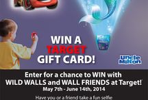 Enter For A Chance to Win With Wild Walls & Wall Friends at Target! / Win a $100.00 Target Gift Card: Head to a local Target participating store, have you or a friend take a selfie with Uncle Milton Wild Walls or Wall Friends & share on social media using #WallFriends. You can also win a $250 Target Gift Card: Purchase a Wild Walls or Wall Friends from Target or Target.com, mail the original UPC code & copy of the receipt to Uncle Milton.  Visit http://woobox.com/ej4zpp to enter!