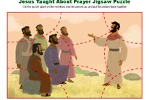 Jesus Taught About Prayer Bible Activities / In his many teachings, Jesus not only instructed people about how to honor God and treat others, he also taught them about prayer. These Bible activities for kids showcase Jesus' teaching on prayer and will help children follow Jesus' example in prayer.