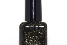 Midnight in Paris- Iconic Luxury Nail Colour / Glitter black polish with specs of gold and silver from the Parisian Socialite collection www.iconiclifestyleinc.com