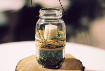 Wedding Decor Ideas / Here are some wedding decor ideas when I was planning my wedding. I used a lot of burlap, wood and dark purple accents and it turned out lovely