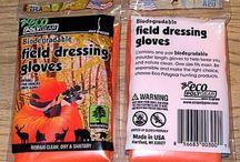 Biodegradable Gloves / ECO PolyGear Biodegradable Field Dressing Gloves at http://www.titanreloading.com