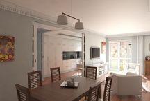 Proyecto en Guecho / #reforma #arquitectura #diseño #interiorismo #3D #infografias #previsualización3D  #Gumuzio&PRADA
