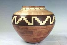 Glen Crandall / The Challenge of Translating Designs into Wood  ||  Wood Turning, Cherry, Walnut, Maple, Holly, Turquoise Inlay