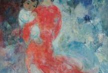 asie- art vietnamien / peintures artistes vietnamiens