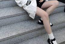 white fashion socks