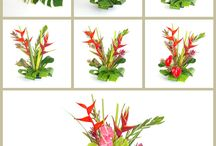 Hawaiian Flowers DIY / DIY Hawaiian flower arranging. Follow the pictures to arrange any of our tropical flower assortments.