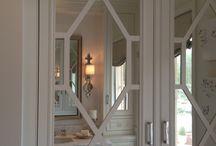 mullioned door