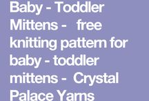 knitting mittens kids