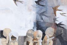 Reem Yassouf / 2014, mix media on canvas, 100 x 100cm