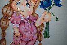 pintura de bonecas