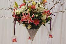 martini glass flower arrangements