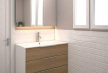 Bell-Lloc | Proyecto reforma de baños / Una de las nuevas reformas de baños a cargo de Grupo Inventia se llevará a cabo en la calle Compte Bell-Lloc de Barcelona. Para esta reforma de baños se ha realizado un proyecto que busca crear dos espacios amplios, cómodos y funcionales.